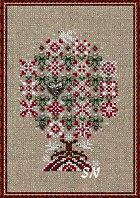 Peppermint Snowflakes Tree from Just Nan - click for more