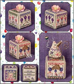 Birthday Garden Cube from Just Nan - click for more