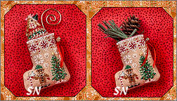 Gingerbread Mouse Elf Stocking from Just Nan