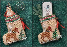 Gingerbread Mouse Reindeer Stocking from Just Nan - click for more