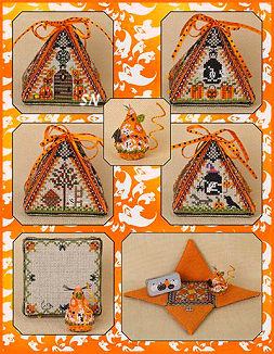 Haunted Autumn Mouse in a House with Miss Ghostly Pumpkin Mouse by Just Nan -- click to see more!