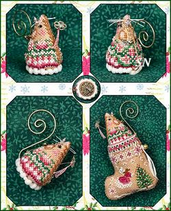 Gingerbread Fairy Mouse Stocking & Emb from Just Nan - click for more