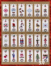 Ornamental Advent & Embellishments from Just Nan - click for more