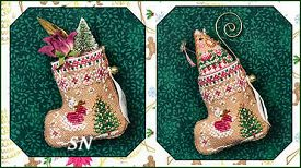 Gingerbread Fairy Mouse Stocking & Embellishments from Just Nan - click for more