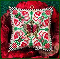 Christmas Butterfly Ornament w Painted Butterfly Charm from Just Nan - click for more