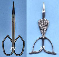 Cathedral, Mermaid and Gold Vineyard Scissors from Kelmscott Designs - click to see more