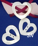 Mother of Pearl Heart Buckle Set from Kelmscott Designs - click to see more