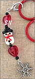 Glass Snowman Fob from Kelmscott