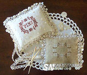 Samplers Remembered Pin Cushion - click for more