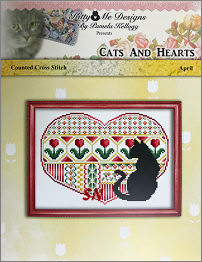 Cats and Hearts April from Kitty & Me Designs - click for more