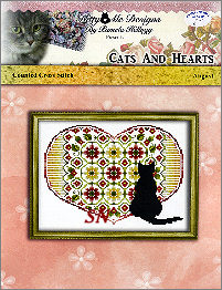 Cats and Hearts August from Kitty & Me Designs - click for more