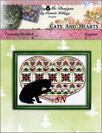 Cats and Hearts December from Kitty & Me Designs - click for more