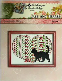 Cats and Hearts February from Kitty & Me Designs - click for more