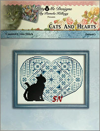 Cats and Hearts January from Kitty & Me Designs - click for more