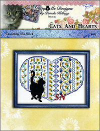 Cats and Hearts July from Kitty & Me Designs - click for more