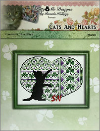 Cats and Hearts March from Kitty & Me Designs - click for more
