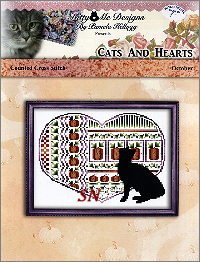 Cats and Hearts October from Kitty & Me Designs - click for more