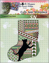 Cats & Stockings EVERGREEN from Kitty & Me Designs - click for more
