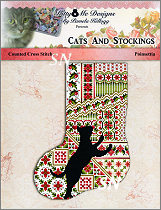 Cats & Stockings POINSETTIA from Kitty & Me Designs - click for more