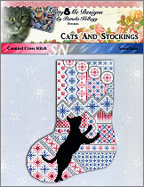 Cats & Stockings SNOWFLAKE from Kitty & Me Designs - click for more