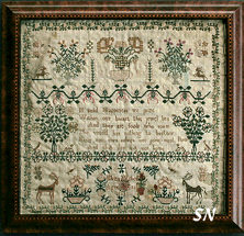 Eliza Mitchell Sampler from La-D-Da -- click to see a larger view