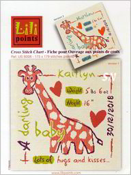 Giraffe Baby Announcement from Lilipoints - click to see more