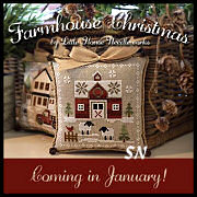 Farmhouse Christmas from Little House Needleworks -- click to see more