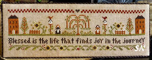 Blessed is the Life from Little House Needleworks - click to see more