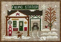 Hometown Holiday #20 Pop's Filling Station from Little House Needleworks -- click to see lots more