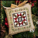 Farmhouse Christmas #5 Grandma's Quilt from Little House Needleworks -- click to see more