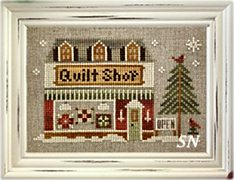 Hometown Holiday #19 The Quilt Shop from Little House Needleworks -- click to see lots more