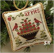 Apples, #6 of 2015 The Sampler Tree Ornament Series from Little House Needleworks -- click to see more