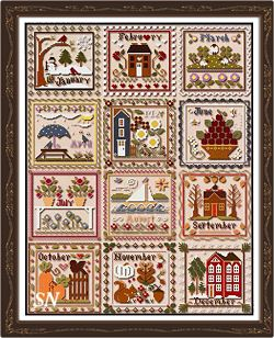 Months of the Year from Little House Needleworks - click to see more