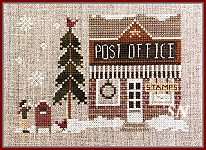 Hometown Holiday #21 Post Office from Little House Needleworks - click to see more
