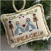 Peace, #7 of 2015 The Sampler Tree Ornament Series from Little House Needleworks -- click to see more