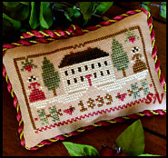 Christmas in the Country, #11 of 2015 The Sampler Tree Ornament Series from Little House Needleworks -- click to see more