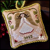 Christmas Angel, #12 of 2015 The Sampler Tree Ornament Series from Little House Needleworks -- click to see more