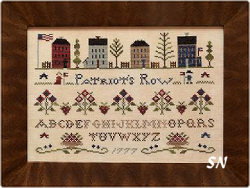 Patriot's Row from Little House Needleworks - click to see more