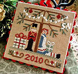 2010 Ornament #10 Under The Tree from Little House Needleworks - click for more