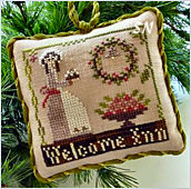Welcome Inn, #9 of 2015 The Sampler Tree Ornament Series from Little House Needleworks -- click to see more