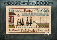 Coming to America from Little House Needleworks - click to see more