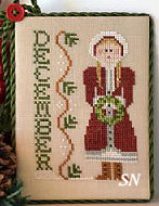 December's Calendar Girl from Little House Needleworks