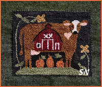 PUNCH NEEDLE Down on the Farm from Little House Needleworks -- click to see more