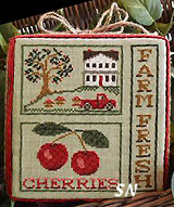 Farm Fresh Cherries from Little House Needleworks - click to see more