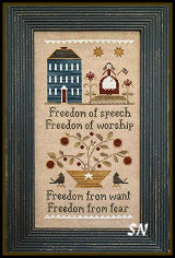 Four Freedoms from Little House Needleworks -- click to see lots more