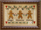 Gingerbread Trio from Little House Needleworks - click to see more
