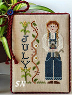 July's Calendar Girl from Little House Needleworks