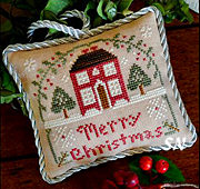 Merry Christmas, #10 of 2015 The Sampler Tree Ornament Series from Little House Needleworks -- click to see more