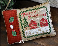 Merry Christmas Pillow from Little House Needleworks -- click to see lots more