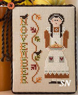November's Calendar Girl from Little House Needleworks